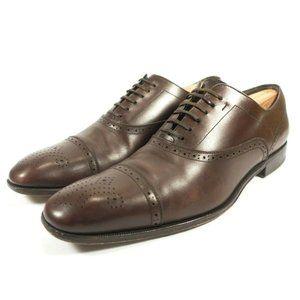 Salvatore Ferragamo Medallion Cap Toe Oxford Shoes